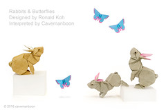 Rabbits & Butterflies (Koh) (cavemanboon*) Tags: rabbit rabbits ronaldkoh  origami    paperfolding cavemanboon singapore malaysia butterfly butterflies theyewmeng2015 yewmeng boon      origamiuniverse chimeimuseum