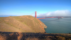 IMG_0297_299 Golden Gate Bridge HDR (vicjuan) Tags: 20160814  usa  ca california marinheadlands hdr tonemapping geotagged goldengatebridge geo:lat=37829871 geo:lon=122483283 marincounty