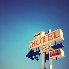 Carl's Awol (Maureen Bond) Tags: vintage classic vacancy kitchen carls motel font highway offthebeatenpath desert hot mojave stillinuse ca maureenbond momandpopleftalongtimeago