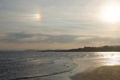 Sun dog over Burntisland (Fife walking) Tags: sea kinghorn burntisland fife fifecoast scotland coastal sundog sky