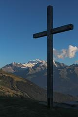 Cross, Verbier Switzerland (MattLawrence) Tags: verbier switzerland valais cross alps alpine summit mountains