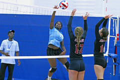 IMG_3285 (SJH Foto) Tags: girls volleyball high school stroudsburg pa pennsylvania team tween teen teenager varsity net battle spike block action shot jump midair