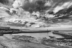 Whitby Harbour (Mister Oy) Tags: davegreen oyphotos oyphotos whitby harbour sea coast coastal sky moody yorkshire mono monochrome blackandwhite fujixpro2 fuji1024mm landscape seascape clouds england pictureof photoof