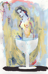 Nude emerging from a cup (amaradacer) Tags: painting nude woman female art mixedmedia figurative abstract surrealist cup champagne acrylic