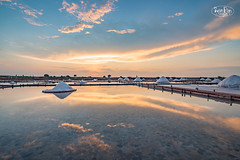 Reflection,Jing-Zai-Jiao Tile-Paved Salt Fields,Tainan county,Taiwan (ShengRan) Tags: salt taiwan travel landscape d600 tamron 1530mm sunset reflection