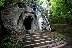 Bosco dei mostri di Bomarzo (Adriano_2) Tags: europa italia lazio bomarzo bosco mostri curiosit grotta bocca maschera ognipensierovola fantastico caverna rinascimento xvisecolo roccia opera simbolo metafora canto