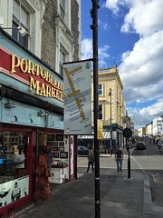 New Goods with World Famous Gallery (RBKC Markets) Tags: portobelloroad portobellomarket portobello market marketsigns signs wayfinding wayfinders nottinghill portobelloroadmarket sign marketsign wayfinder diagram