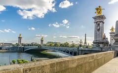 Pont Alexandre III (VicManiaco) Tags: paris sunny eiffel seine river