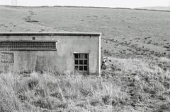 Bacup [September 2016] (lynnmariehall) Tags: olympus om10 ilford xp2 bacup pennines blackwhite monochrome analog film 35mm landscape hills hillside moors hut olympusom10