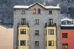 Andorra living: Andorra city (lutzmeyer) Tags: pictures city schnee winter snow stone architecture photography arquitectura europe photos pics centre nieve center images fotos granite architektur invierno february stein febrero andorra bilder imagen pyrenees neu februar 1953 iberia hauptstrasse pirineos pirineus mainroad iberianpeninsula architectura febrer pyrenen imatges hivern granit escaldes baukunst escaldesengordany iberischehalbinsel stadtgebiet avingudacarlemany andorracity lutzmeyer lutzlutzmeyercom casapalmitjavilaescaldes1953