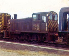 D2142 for attention at Cardiff Canton (briantuk) Tags: cardiff pre depot tops canton locomotives mpd