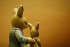 Reading the Book From Behind (No Talent Bum) Tags: nikon rabbits greensboronorthcarolina chachkies nikond40x