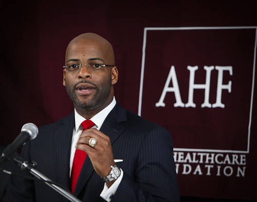 AHF/REP Isadore Hall Condom Law Press Conference