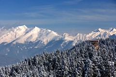 The platform (sramses177) Tags: italien schnee winter italy snow mountains alps landscape view platform berge alpen landschaft sdtirol altoadige southtyrol observationdeck ratschings racines sterzing aussichtsplattform jaufen