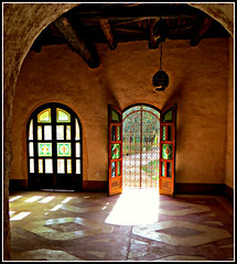 An Interior, La Medina d'Agadir (ronramstew) Tags: door windows light colour tourism design floor interior crafts agadir morocco berber maroc 1001nights marruecos marokko 2013 lemaroc 2010s 1001nightsmagiccity blinkagain cocopolizzi medinadagadir bensergao
