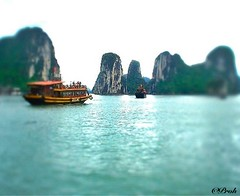 Tilt-shift Halong Bay (prohject7D1) Tags: landscape miniature sony vietnam halongbay fakes tiltshift travelphotography miniaturefakes
