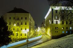 Fast start (The Adventurous Eye) Tags: architecture night start fast brno transportation ulice husova alina