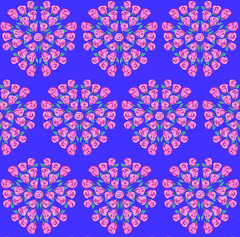 Many Kaleidoscope Roses (randubnick) Tags: roses art pattern digitalart painter digitalpastel capturepattern painter12 kaleidoscopemode