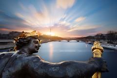Love you Paris (Beboy_photographies) Tags: sunset paris france statue seine river de soleil coucher fleuve