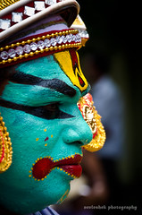 Coloured face (neeleshek.in) Tags: color colour face kochi onam chamayam athachamayam atham thrippunithara