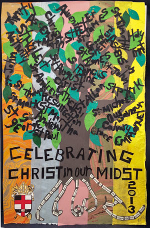 <p>Kay Collier McLaughlin created the poster to commemorate the 117th convention and celebrating Christ in our midst.</p>