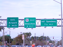 US 92 East just off I-95 in Daytona Beach (peachy92) Tags: florida roadsign roadsigns daytonabeach us92 daytonabeachfl volusia roadgeek volusiacounty daytonabeachflorida volusiacountyflorida volusiacountyfl