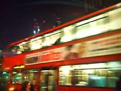 Russhh (maistora) Tags: city uk red england motion blur bus london church mobile night speed dark lights evening exposure phone dynamic britain sony cellphone smartphone android app aldgate fenchurch maistora pixlr xperia