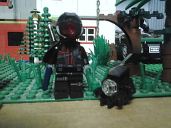 Something Different. (Nightmarevalkyrie) Tags: lego military chibi gaming future custom mech apoc deadspace brickarms
