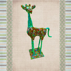 giraffe (**mira pinki krispil-colors of life ***) Tags: sculpture flower art colors animal cane israel handmade polymerclay fimo clay giraffe collectible pinki polymer millefiori homedecore mirakris krispil 12pcp2013