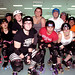 The Black River Rollers roller derby team at their weekly practice in Watertown. Photo: Nora Flaherty