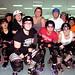 The Black River Rollers roller derby team at their weekly practice in Watertown. Photo: Nora Flaherty