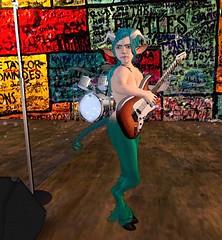 Guitar Faun (Annalisa Shepherd) Tags: rock faun