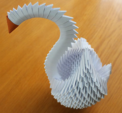 Origami Ku - Swan (erdoganakman) Tags: animal paper origami hayvan kat
