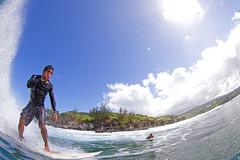 honolua bay (bluewavechris) Tags: ocean sea sun water face canon fun hawaii surf ride action surfer board tube barrel wave maui cliffs spray fisheye foam dome surfboard lip curl thebay swell 815 honoluabay honolua cmtwaterhousing
