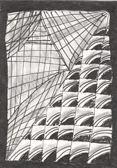 Zentangle ATC not for trade (magpiearts) Tags: blackandwhite atc artisttradingcard drawing zentangle magpiearts