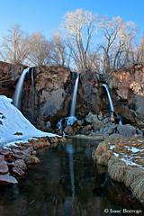 Rifle Falls (isaac.borrego) Tags: trees snow reflection water canon rebel colorado falls waterfalls xsi riflefalls