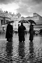 "29/365 - ""Habemus Papam"" nr.1 (Luca Rossini) Tags: street city bw pope black vatican rome project three blog waiting candid sony center theme papa 365 raining priests conclave saintpeter habemuspapam rx1 365daysofrx1onecameraonelens12projects"