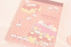 (Kaiyakkuma) Tags: cute japanese pastel bears chiffon kawaii sweets memopad