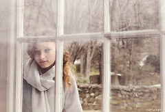 outside looking inside looking out (carlamgk) Tags: portrait white window glass girl beautiful wall 50mm branches portraiture stonewall windowpane alwaysexc
