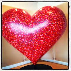 #awesomized Huge 5 feet x 5 feet heart (ArtsySF©Marjie) Tags: sf red feet hospital square hearts san francisco heart 5 lofi squareformat kaiser app iphone iphoneography awesomized instagramapp uploaded:by=instagram