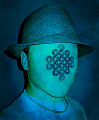 Self-Portrait (Thought Knots Design) Tags: portrait selfportrait face hat photoshop logo flow graphicdesign freestyle thought graphic symbol head infinity knot thoughts adobe layers fedora trippy brand knots infinite trippin branding endless thoughtknots thoughtknotsdesign thoughtnauts thoughtnaut thoughtnautical