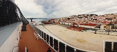 beachView (.maique.) Tags: cruise panorama portugal lisboa lisbon pano cruiseship iphone preziosa iphone5 vscocam mscpreziosa uploaded:by=flickrmobile flickriosapp:filter=nofilter skinnyjrjr