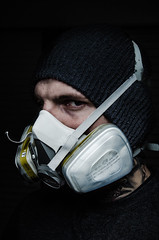 Paint Mask 3 (N7N Photography) Tags: white black look hat stand scary eyes nikon mask flash gas tamron speedlight f28 trigger 2875mm octobox yongnuo d7000 rf603 yn560ii
