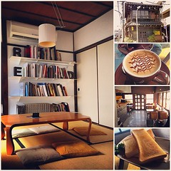 ร้านกาแฟข้างบ้านอีกแล้ว 家のとなりの喫茶店、谷根千の中に有名な珈琲店だ… ร้านตกแต่งแนวโบราณย้อนยุคเพราะเป็นบ้านที่หลงเหลือจากยุคไฟไหม้ใหญ่เอโดะ #coffee #taito #yanaka