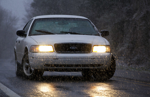 Crown Vic Snow Day