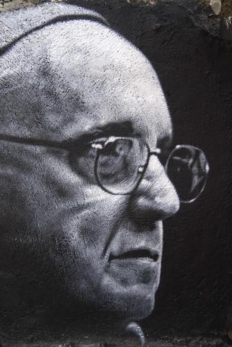 thierry Ehrmann le 112 me est Jorge Mario Bergoglio (Pope Francis), painted portrait DDC_7829