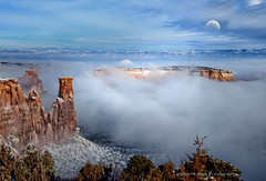 I AM NOT THERE (Aspenbreeze) Tags: moon mist southwest misty fog evening colorado spires foggy canyon moonlight canyons grandjunction grandjunctioncolorado redrockformations aspenbreeze moonandbackphotography bestevergoldenartists topphotospots tpslandscape gpsetest bevzuerlein besteverexcellencegallery coloradonationslmonument
