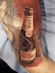moet tattoo (Miguel Bohigues) Tags: valencia miguel tattoo angel champagne tatuaje tatuajes moet bohigues vtattoo