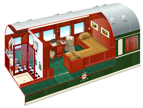 Rovos Rail, Luxury Train Club, Deluxe Suite, twin L-shape