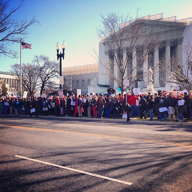 United for marriage rally #prop8 #doma #supremecourt #dclove